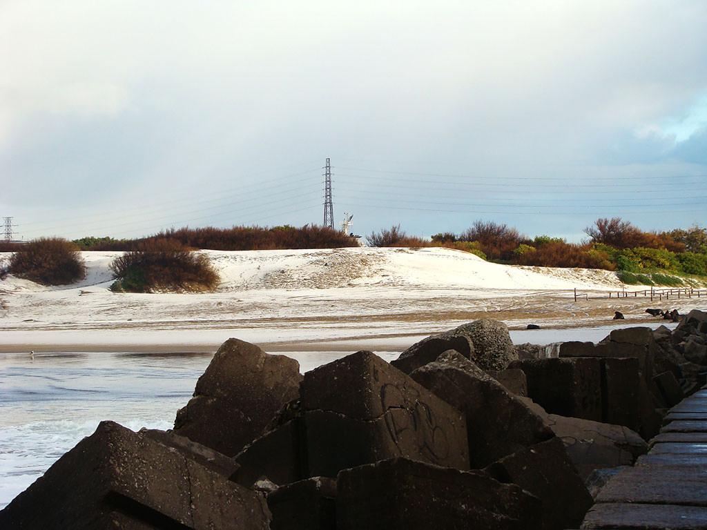 La arena también estaba fría  foto: Santi Jaureguiberry
