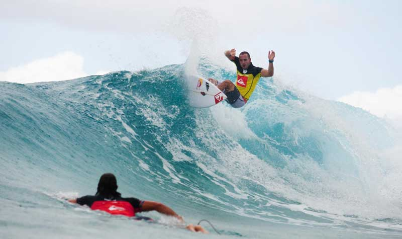 Tiago Pires, el rival de Slater en tercera ronda. Foto: ASP - Cestari.