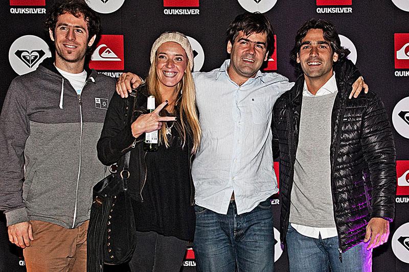 Lucas Smart, director de Marketing de Quiksilver Argentina, con invitados.